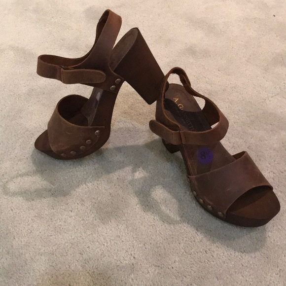 529b87a26763 A. Giannetti Shoes - A. Giannetti wooden sandals